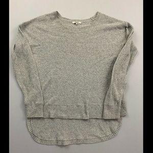 Madewell Women's Gray Long Sleeve Crewneck Sweater